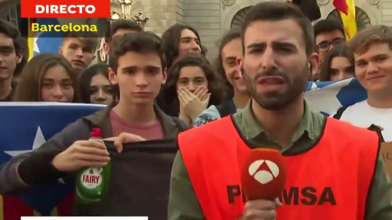 La 'broma del Fairy' durante la huelga de estudiantes en Barcelona