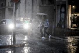 Lluvias y caída del mercurio en Mallorca