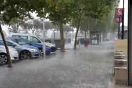 Un nuevo temporal deja precipitaciones fuertes en Baleares