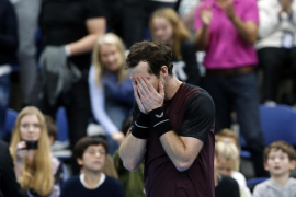Andy Murray llora tras ganar el torneo de Amberes