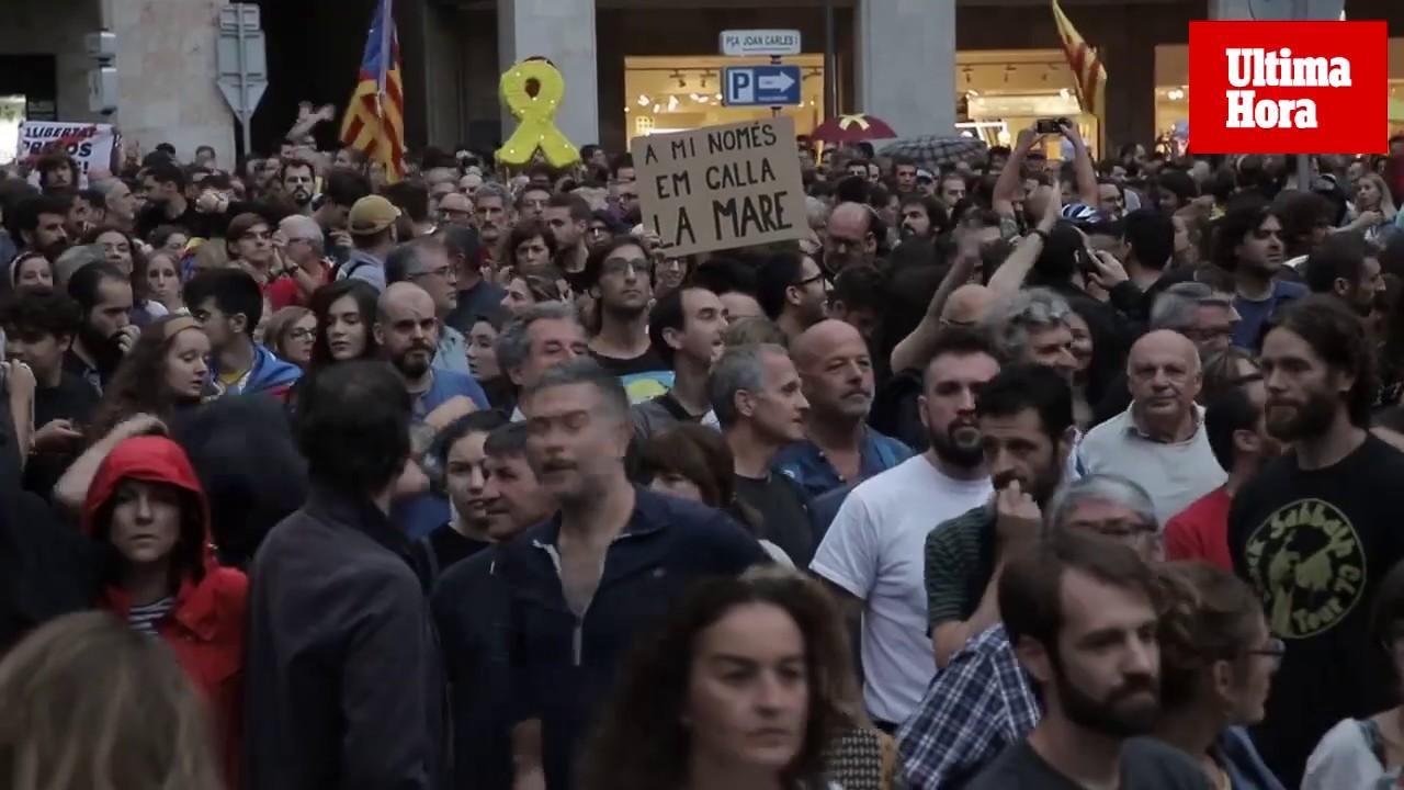 Más de 5.000 personas se manifiestan en Palma contra la sentencia del 'procés'