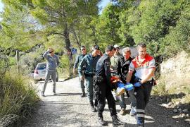 Rescatados un joven herido en la Trapa y una excursionista en Andratx
