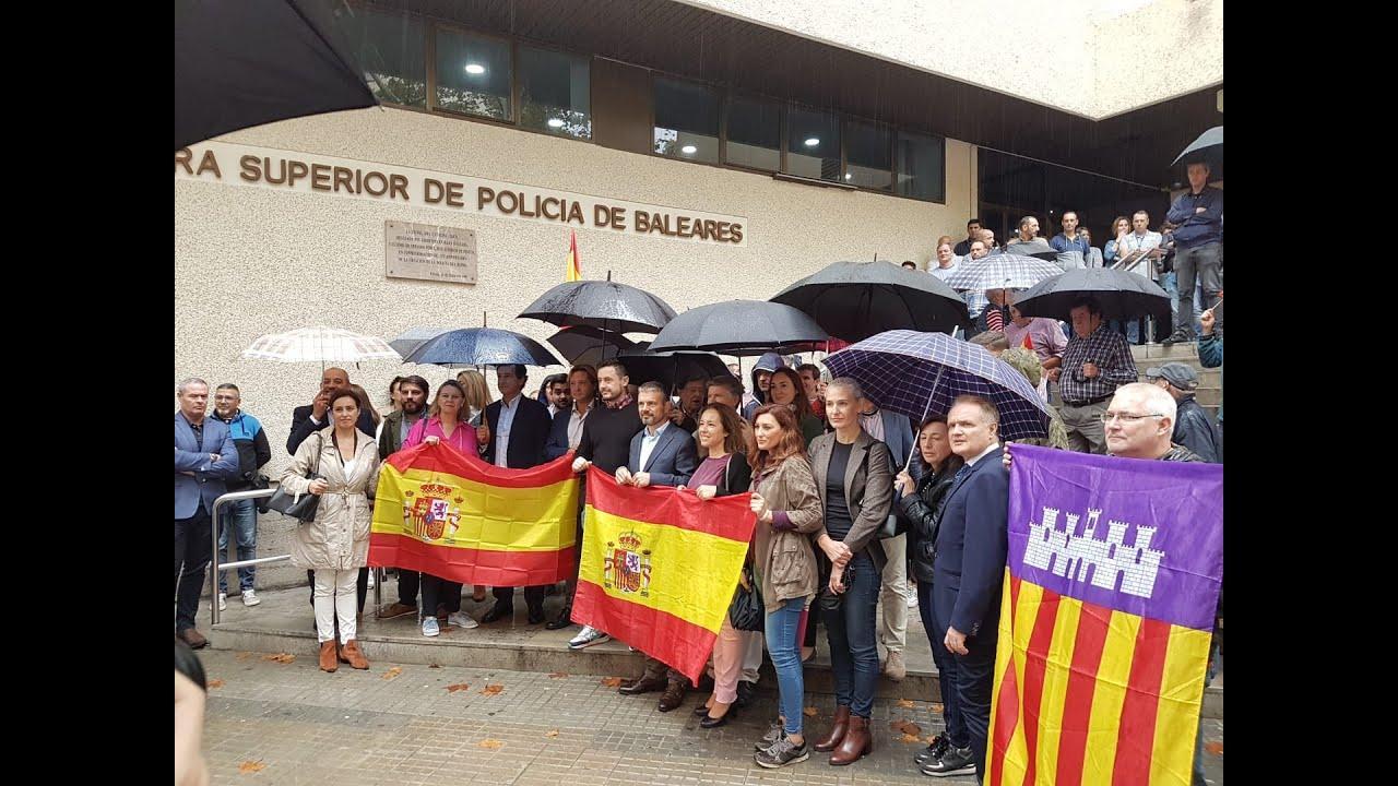 La policía exige en Palma al Gobierno «más efectivos y contundencia» en Cataluña