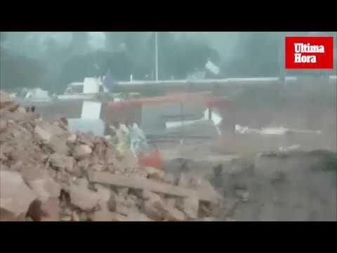 Las imágenes desde dentro del tornado que ha sacudido Ibiza