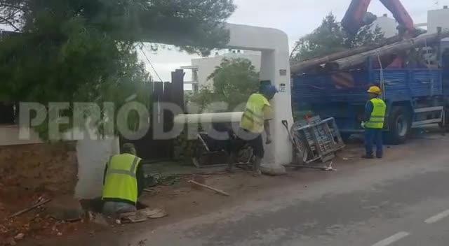 Emergencias cuenta por miles los árboles destrozados en Sant Antoni