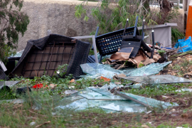 Los daños causados por un tornado en Sant Antoni, en imágenes (Fotos: Daniel Espinosa).