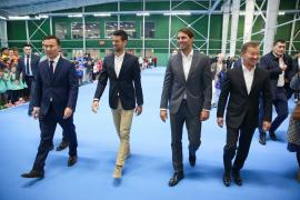 Nadal y Djokovic inauguran un nuevo centro de tenis en Nur-Sultán