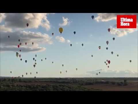 Campeonato de Europa de globos aerostáticos en el cielo de Mallorca