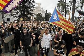 Estudian multar a independentistas por insultos a la policía en Palma