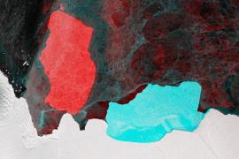 Un iceberg del tamaño de Londres gira 90 grados en un mes