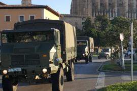 300 militares del Regimiento de Infantería Palma 47 se embarcan para recibir adiestramiento en Almería