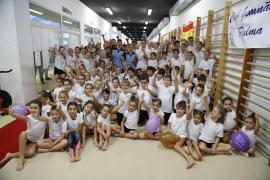 Homenaje al tridente olímpico de la gimnasia balear