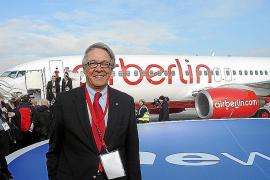 Presentación de la incorporación de Air Berlin en la alianza Oneworld, ayer en Berlín.