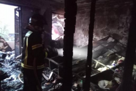 El diseñador Tony Bonet, «impactado» por el fuego que ha destruido su piso taller