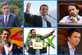 Calendario de visitas a Mallorca de los candidatos a presidente del Gobierno