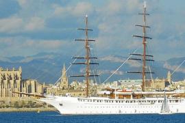 Los veleros 'Sea Cloud II' y 'Star Flyer' coinciden en Palma