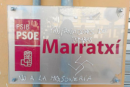 El PSOE de Marratxí denuncia pintadas fascistas en su sede