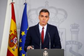 Pedro Sánchez en el Palacio de la Moncloa