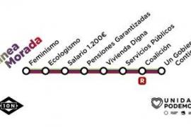 'Próxima parada, Coalición', la campaña de Unidas Podemos inspirada en Metro