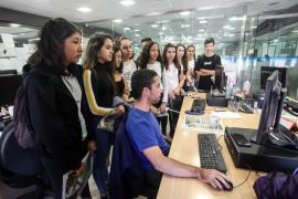 Visita escolar al Periódico de Ibiza y Formentera