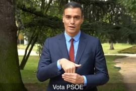 Pedro Sánchez pide el voto en lenguaje de signos