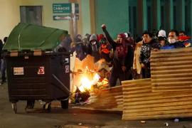 Los manifestantes de La Paz, dispersados con gases lacrimógenos