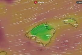 Así está soplando el viento en Mallorca