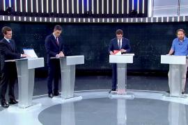 El debate electoral a cinco, por primera vez retransmitido en Twitter