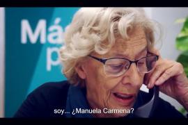 Carmena entra en campaña y pide el voto para Errejón