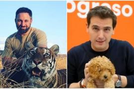 Abascal contraataca con un tigre al perro de Rivera