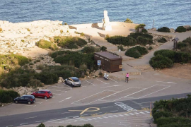 Pintadas a favor de los «presos políticos» en las carreteras de Formentor y Lluc