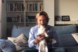 Campos parodia a Rivera con su perro Rayo, «devorador» de separatistas