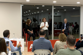 La ministra Ribera pide en Palma el voto para que el PSOE afronte el reto climático