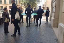Incidentes en Palma en la jornada de reflexión