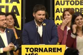 Rufián (ERC): «Hoy Cataluña ha sentenciado»