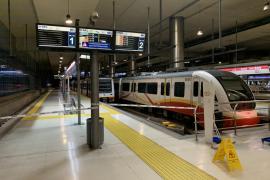 El metro de Palma vuelve a operar este lunes, tras la reparación de la avería