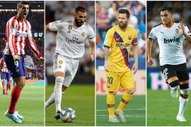 Atlético de Madrid, Real Madrid, Barcelona y Valencia
