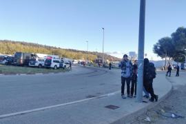 Reabierta la N-II tras dispersarse los manifestantes de Tsunami en La Jonquera