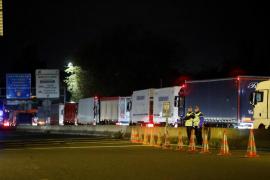 Cortes y colapso de tráfico en Girona, Irún y en Barcelona