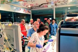 Complejo traslado de un bebé con problemas cardíacos de Palma al hospital de la Vall d'Hebron