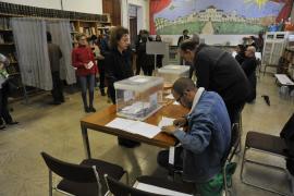 Mesa electoral de las elecciones celebradas el pasado domingo