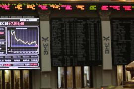 La bolsa española pierde los 7.000 puntos por primera vez en tres años