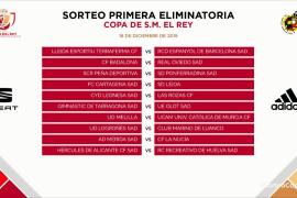 Ponferradina, Pontevedra y Unionistas, rivales para los equipos baleares en la Copa del Rey