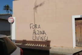 Imagen de archivo de las pintadas contra el residencial turístico Alzina Living en Son Espanyolet