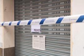 Finca desalojada en Palma por riesgo de derrumbe