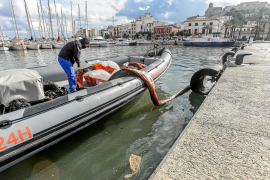 Nuevo vertido fecal en el puerto de Ibiza con solo tres litros por metro cuadrado de lluvia
