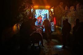 Rescate de un hombre de su casa en Son Reus