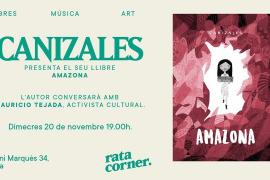Canizales presenta su libro 'Amazona' en Rata Corner