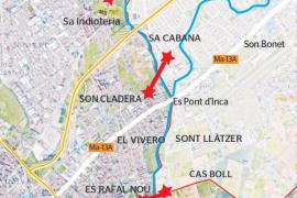 Palma y Marratxí piden «conexiones» entre sus barriadas, separadas por el Torrent Gros