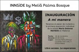 'A mi manera', primera exposición de María Dolores Mateos en Palma
